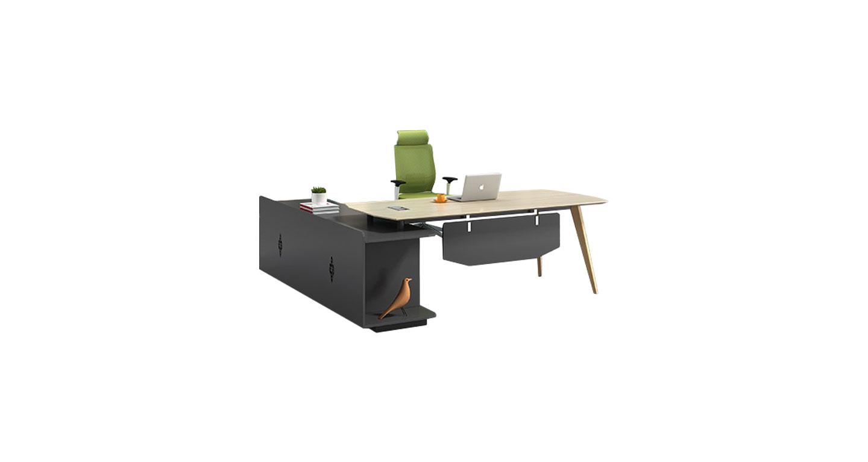 简约单人板式经理桌 现代经理办公桌