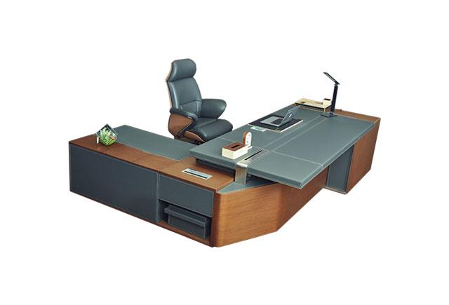 实木贴皮老板班台-贴皮老板桌