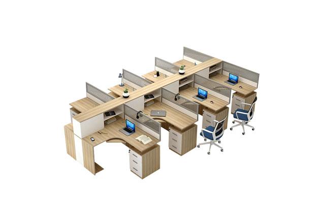8人位办公隔断办公桌