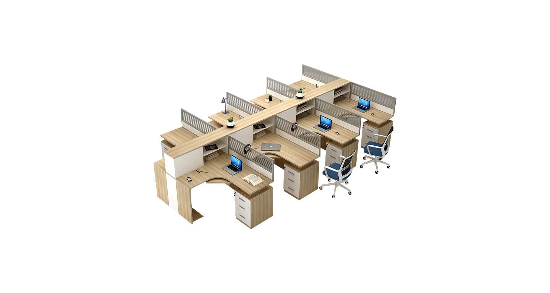 办公隔断办公桌-四人办公隔断办公桌-办公隔断办公桌图片