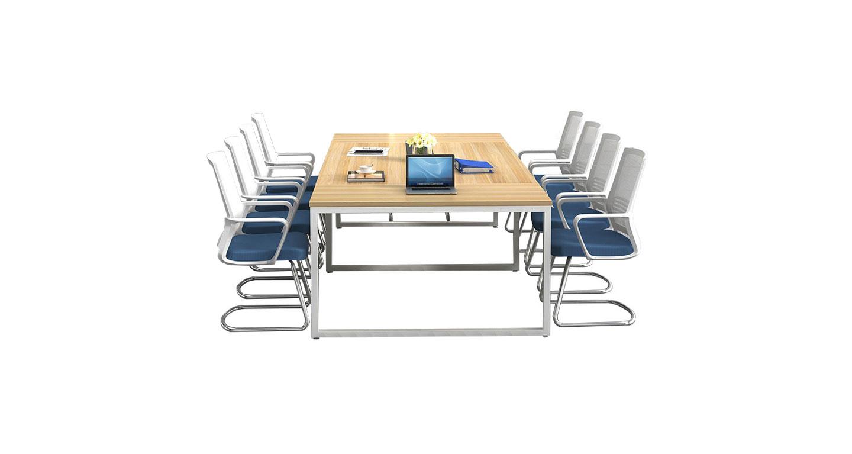 简约式板式会议桌 简约钢脚架会议桌
