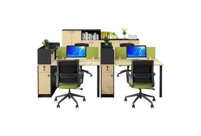 办公桌增加隔断-办公桌隔断置物架