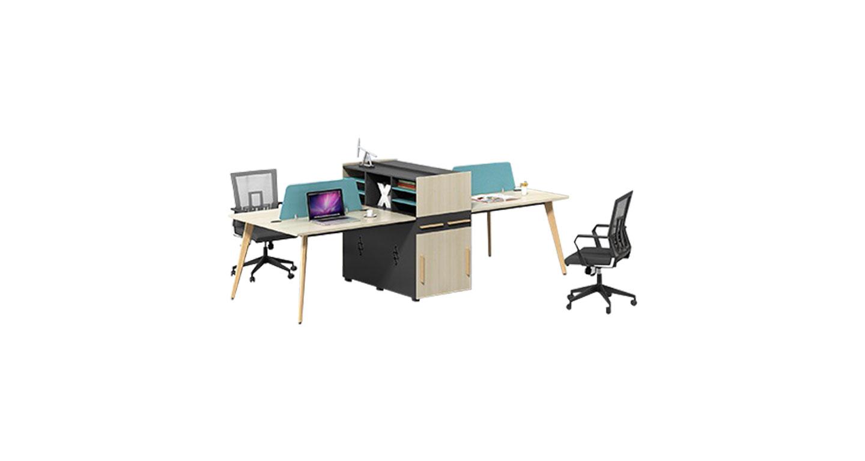 办公室屏风位-办公桌屏风位-四人办公桌屏风位