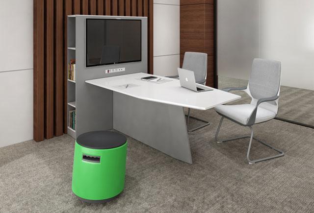 视频会议室会议桌—多媒体视频会议桌—品源办公家具定制