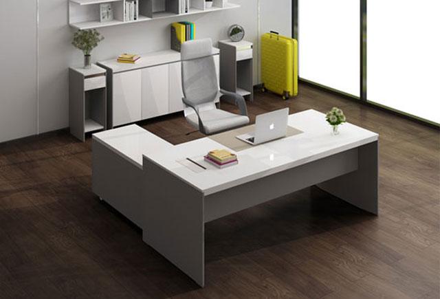 简约现代板式办公桌 时尚办公经理老板桌 现代经理办公桌椅