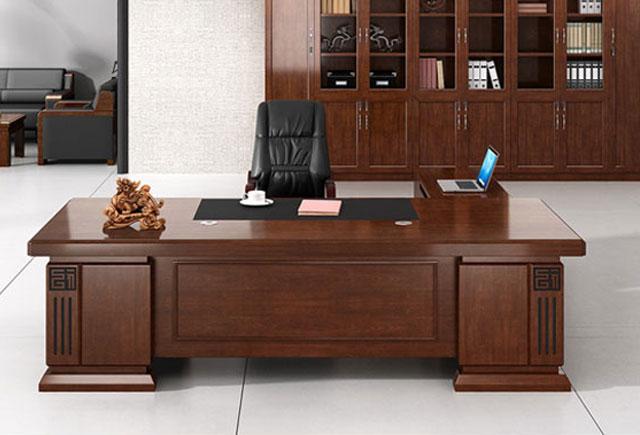 高端时尚简约大班台 实木油漆总裁桌 办公桌椅 总裁办公桌椅
