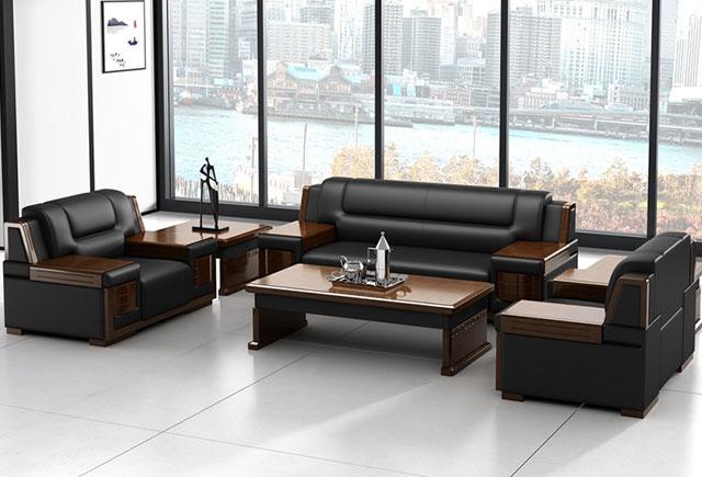 总经理办公室沙发 实木框架沙发