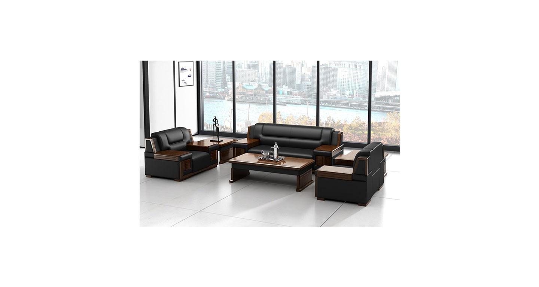 总经理办公室沙发 实木框架沙发 中式风格沙发