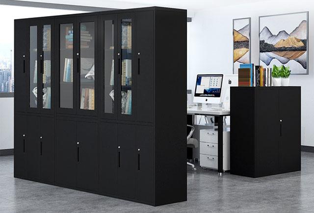 钢制办公玻璃文件柜―办公室钢制