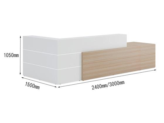 公司前台桌子尺寸图