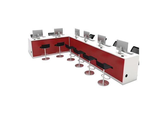 房产中介前台桌—房产中介办公桌