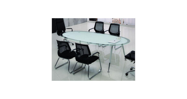 椭圆形钢化玻璃桌—椭圆形钢化玻璃会议桌