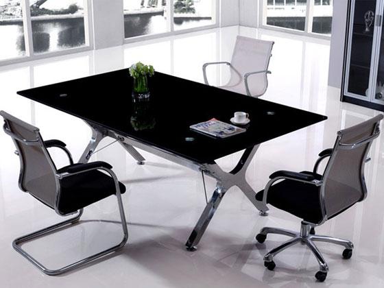 时尚玻璃会议桌样式