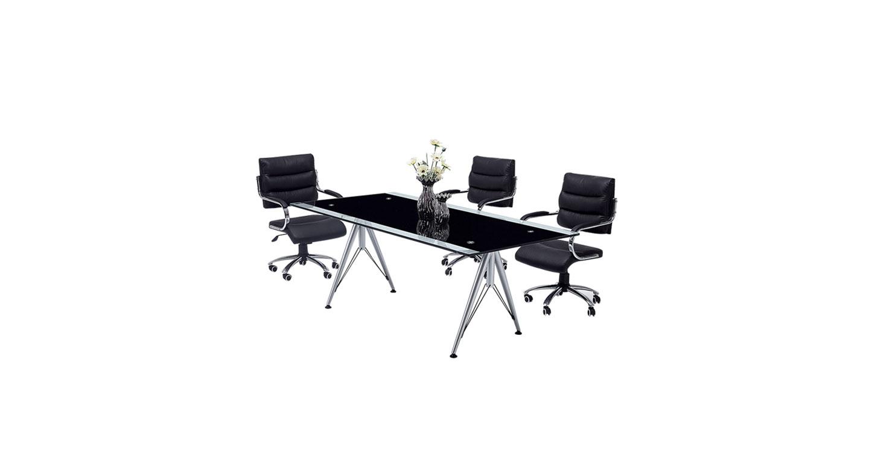 简约时尚钢化玻璃办公桌样式