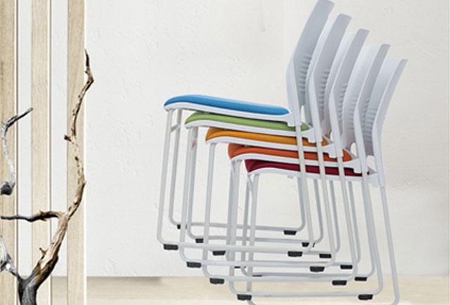 培训授课椅子 多功能金属耐用塑