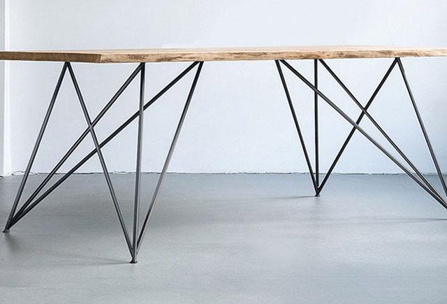 现代简约会议桌 钢架板式接待桌