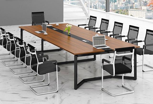 钢木结构会议桌 现代简约会议桌