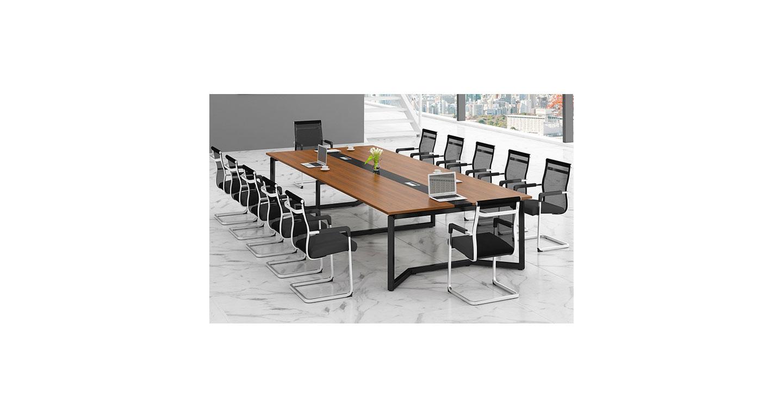钢木结构会议桌 现代简约会议桌椅