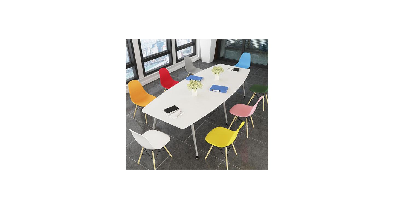 10人位带线盒会议桌 简约板式会议桌