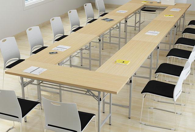 会议桌 折叠条形桌子 培训桌椅