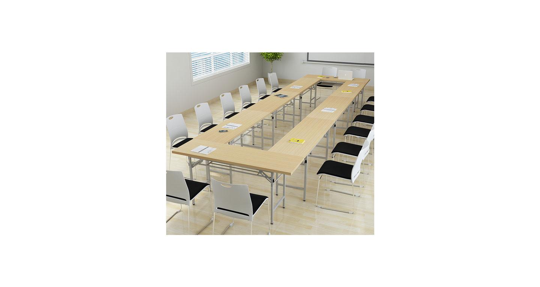 会议桌 折叠条形桌子 培训桌椅 长条桌 长桌组合 办公桌椅