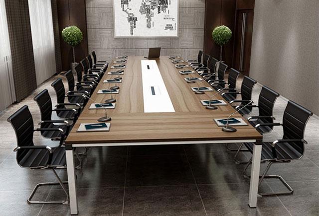 会议桌椅组合套装 会议桌带话筒 20人的会议桌 20人会议室会议桌