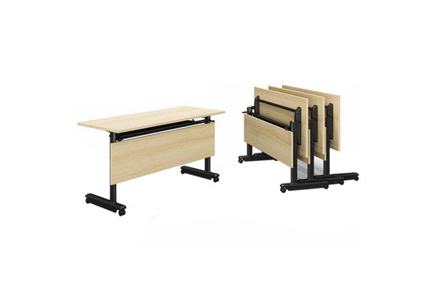 翻转桌会议桌 拼接可折叠会议桌