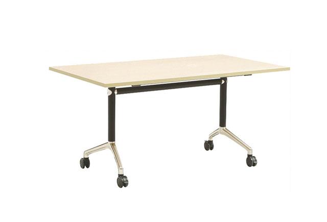 折叠翻转办公桌 带滚轮职员桌