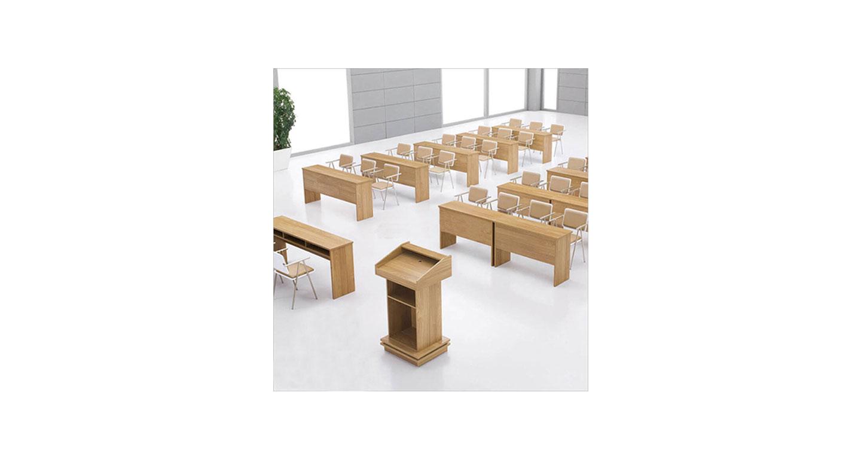 大型会议培训桌 讲课式报告厅会议桌 课桌会议桌兼用 实木会议课桌