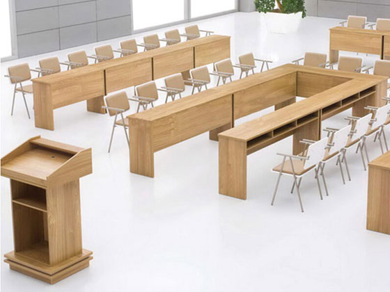 讲课式报告厅会议桌样式