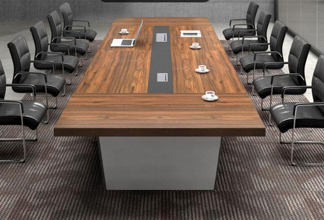 豪华油漆会议桌 实木贴皮会议桌