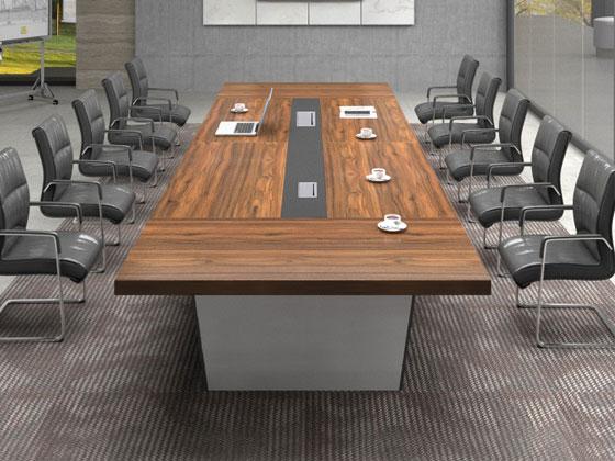 实木贴皮会议桌样式