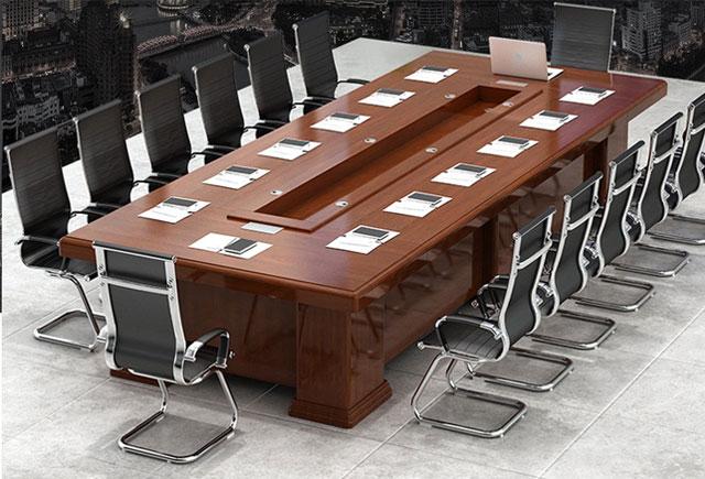 现代办公会议桌 红胡桃实木会议