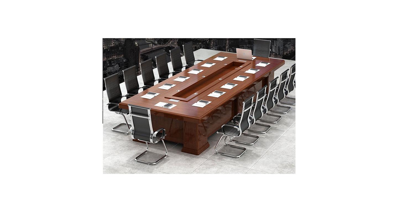 现代办公会议桌 红胡桃实木会议桌