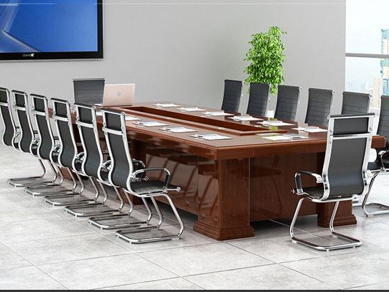红胡桃实木会议桌样式