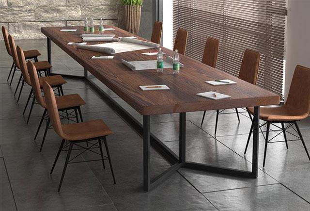 简约亚博娱乐会议桌 时尚实木会议台