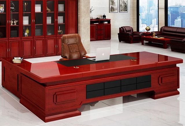 实木贴皮老板桌 油漆烤漆大班台
