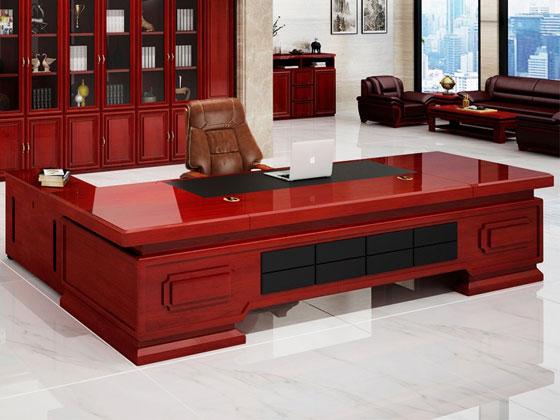 实木贴皮老板桌样式