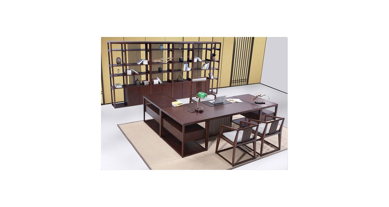中式老板办公桌 实木喷漆总裁桌