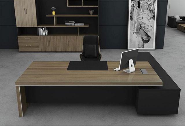 简约现代老板桌 实木贴皮主管桌