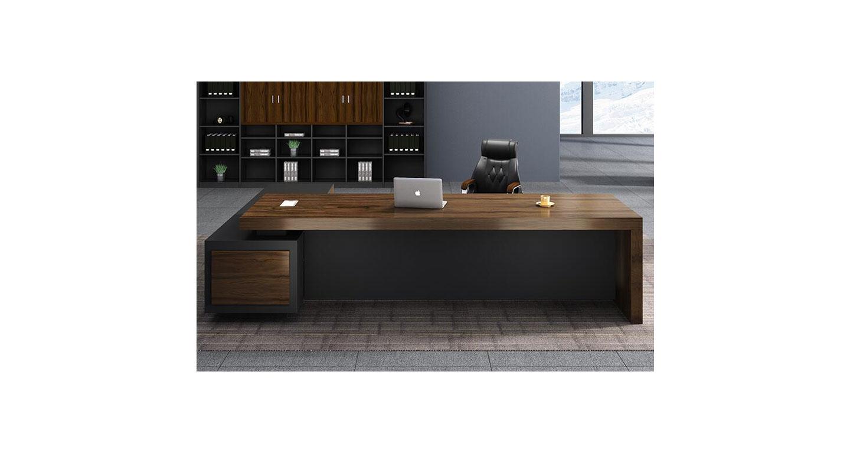 实木油漆老板桌 经理办公桌大班台