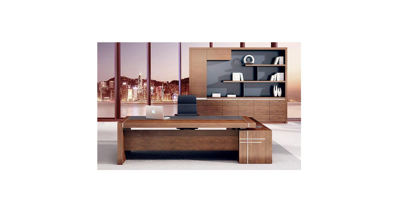 总裁桌老板桌 油漆实木贴皮班台 办公大班台