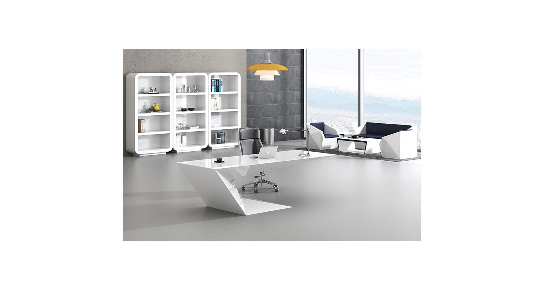 油漆老板桌大班台 实木贴皮经理办公桌