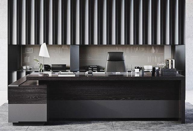 实木油漆大班台 现代老板办公桌