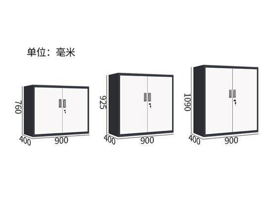 玻璃门矮式文件柜尺寸图
