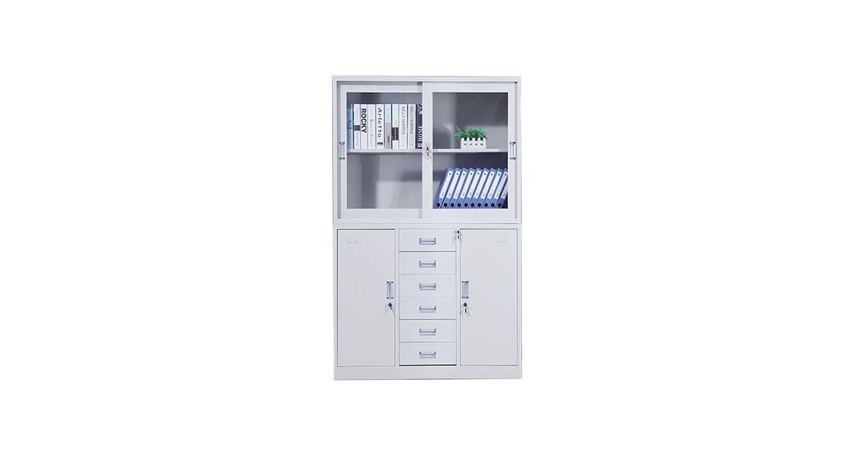 推拉式玻璃门文件柜样式