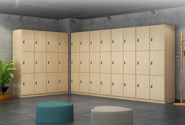 板式格子储物柜―洗浴中心更衣柜