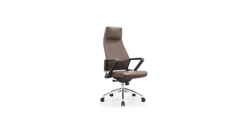 西皮经理椅子 不锈钢五星脚升降转椅