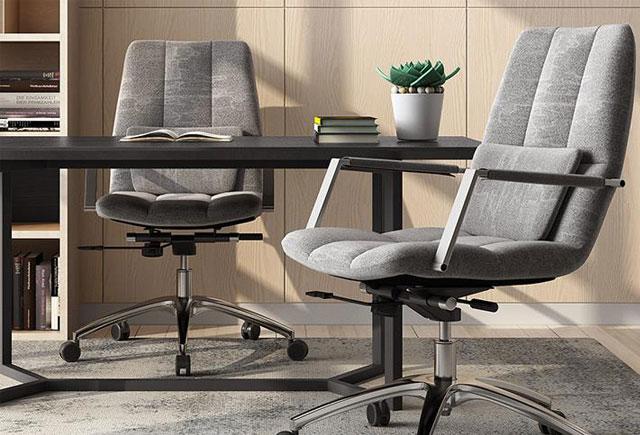 公司主管椅 旋转绒布办公椅