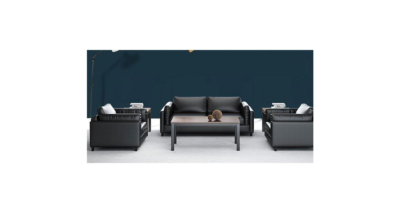 黑色仿皮沙发 时尚PU沙发